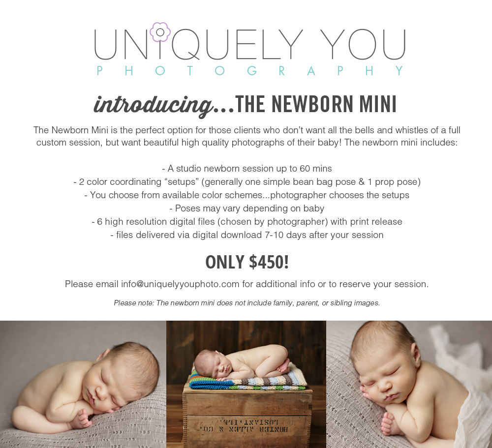 Lincoln Nebraska Newborn Photographer | www.uniquelyyyouphoto.com
